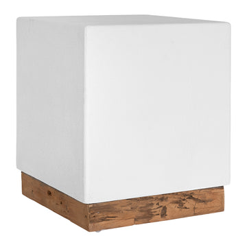 Kaya Luxe Side Table | White