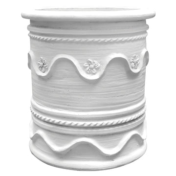 Kubu Terracotta Pot | White