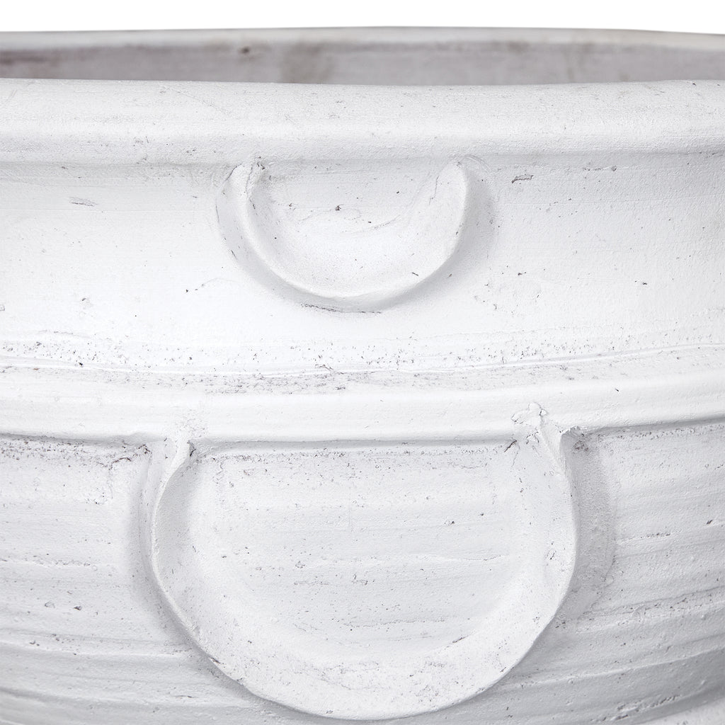 Kunda Terracotta Pot | White