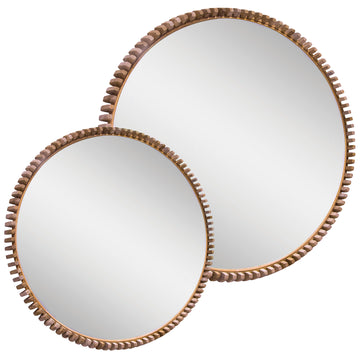 Lindi Round Mirror | Natural | Oak