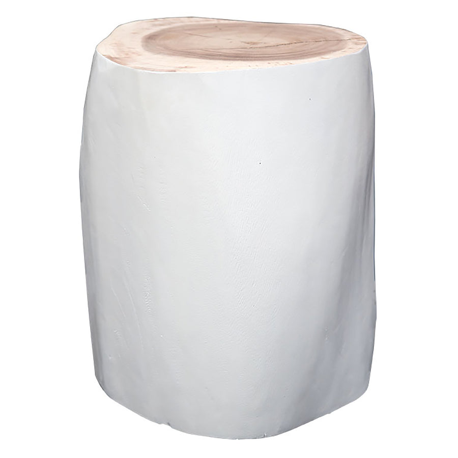 Log Stool | White