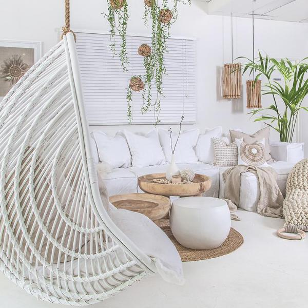 Makeba Hanging Chair | White