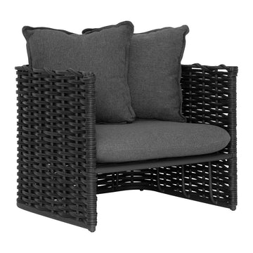 Manyara Sofa | One Seater | Charcoal