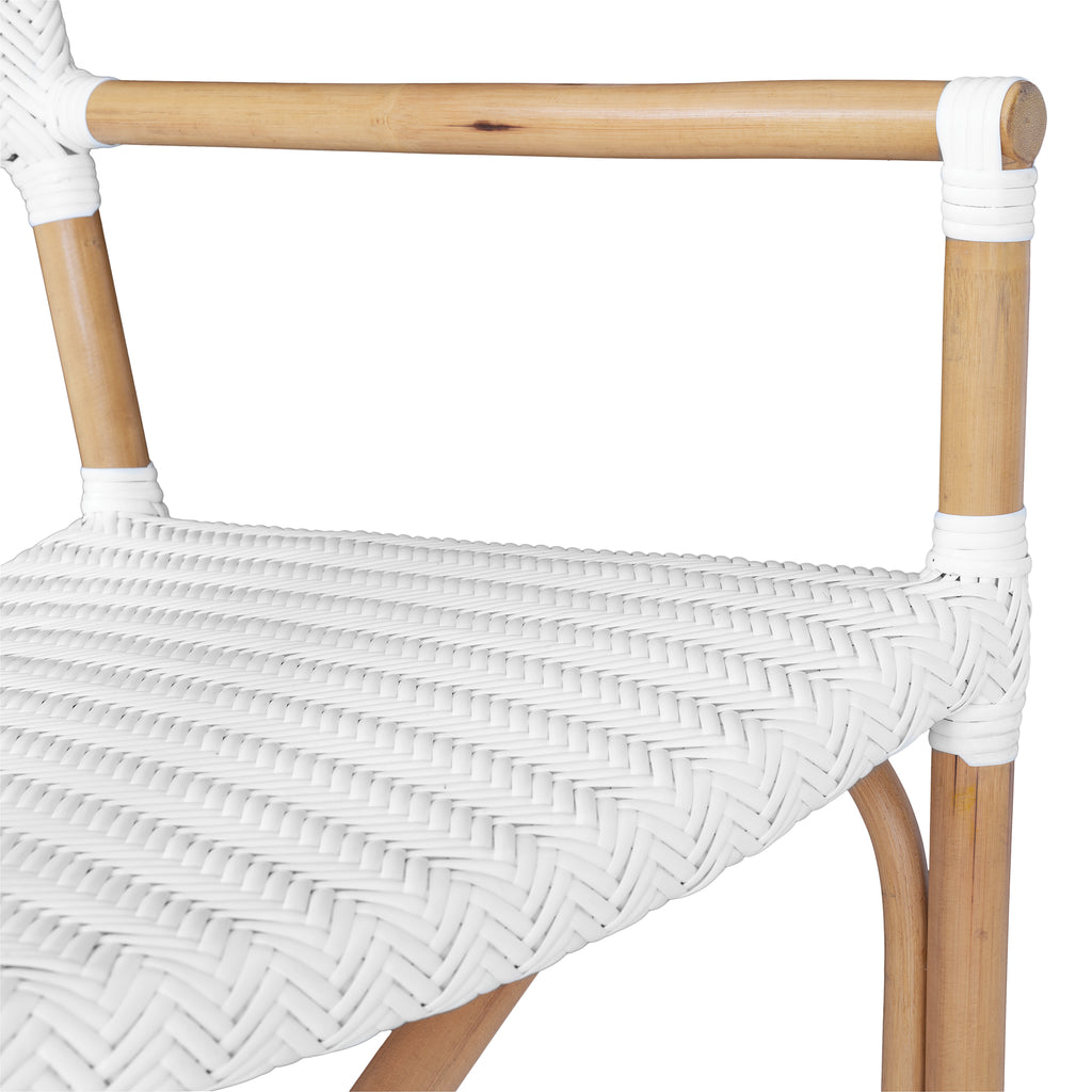 Safari Armchair | Herringbone | White
