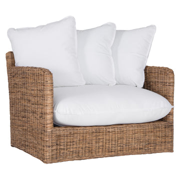 Singita Outdoor Sofa | One Seater | Natural Weave