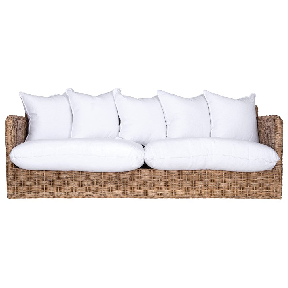 Singita Indoor Sofa | Three Seater | Natural Weave