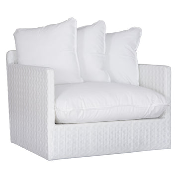 Singita Outdoor Sofa | One Seater | White Weave