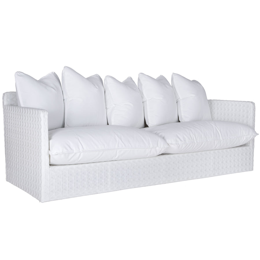 Singita Outdoor Sofa | Three Seater | White Weave