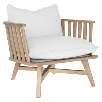 Skukuza Occasional Chair | White Corduroy