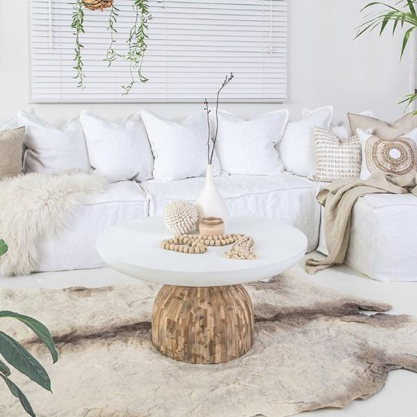 St James Coffee Table | White