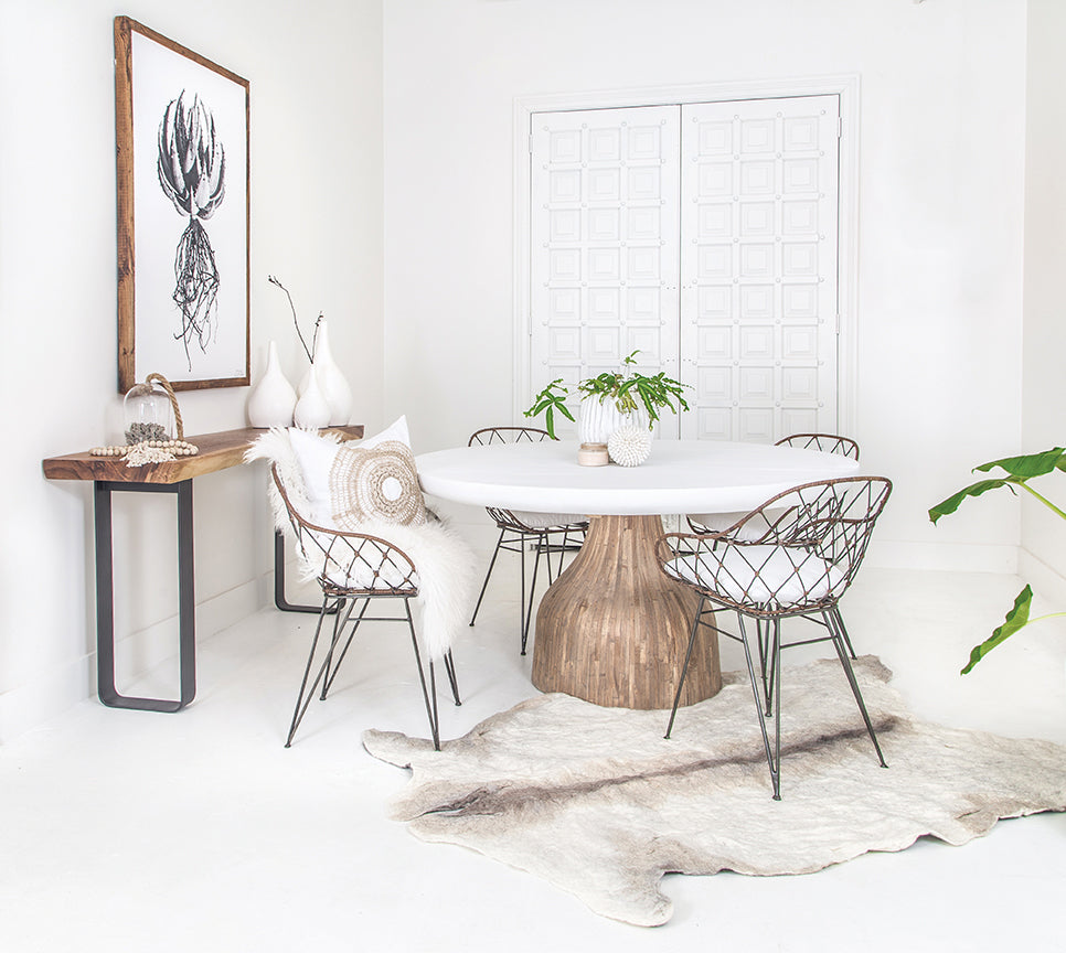 St James Dining Table | White