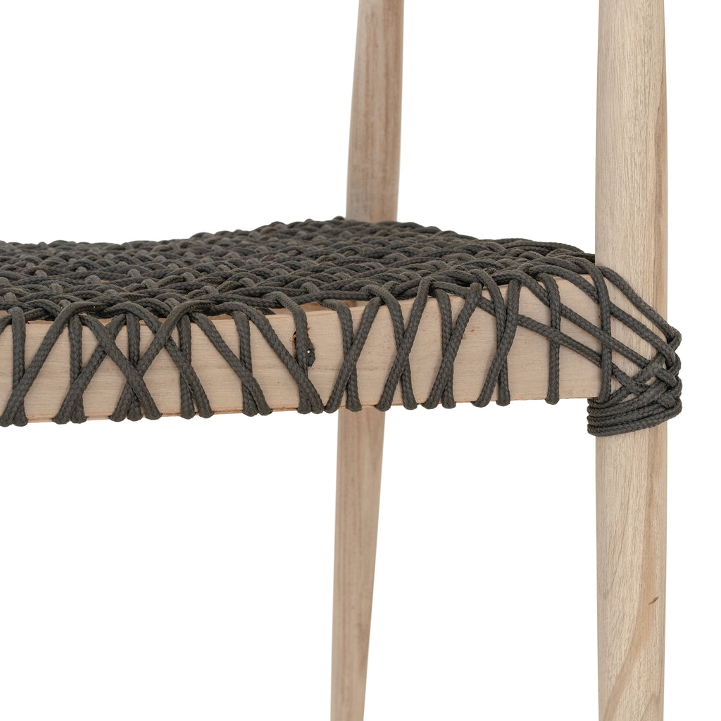 Sweni Horn Rope Armchair | Charcoal