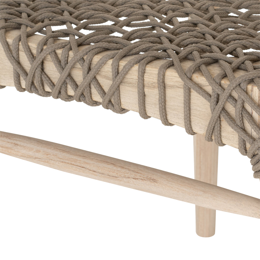 Sweni Horn Rope Dining Chair | Taupe