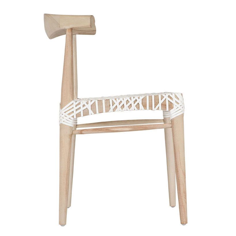 Sweni Horn Dining Chair | White