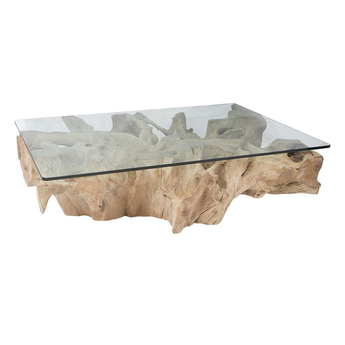 Teak Root Coffee Table | Bleached
