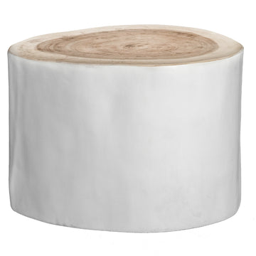 Trunk Side Table | White