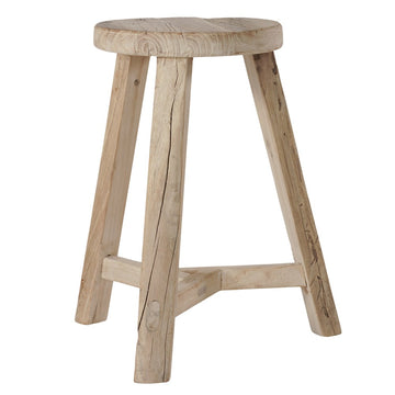 Vintage Elm Stool | Natural