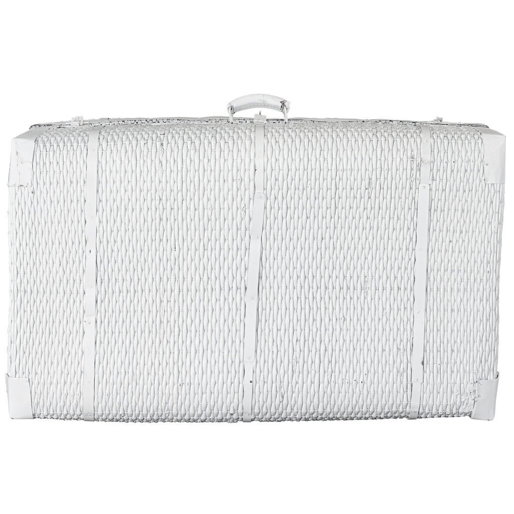 Vintage Willow Suitcase | White