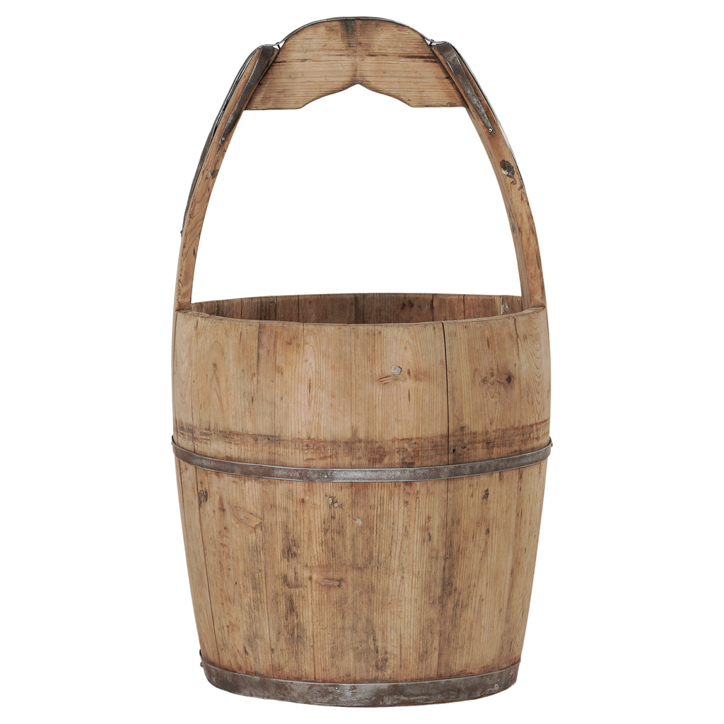 Vintage Wooden Bucket | Natural