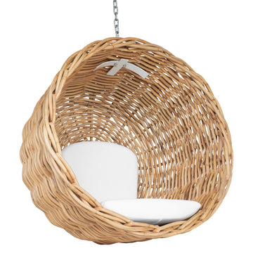 Zulu Hanging Chair | Luxury White
