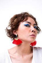 Aztec Red Earrings