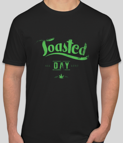 Mens Toasted All Day Long - Offensive Threads