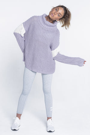 Cora Knit Sweater - Lilac