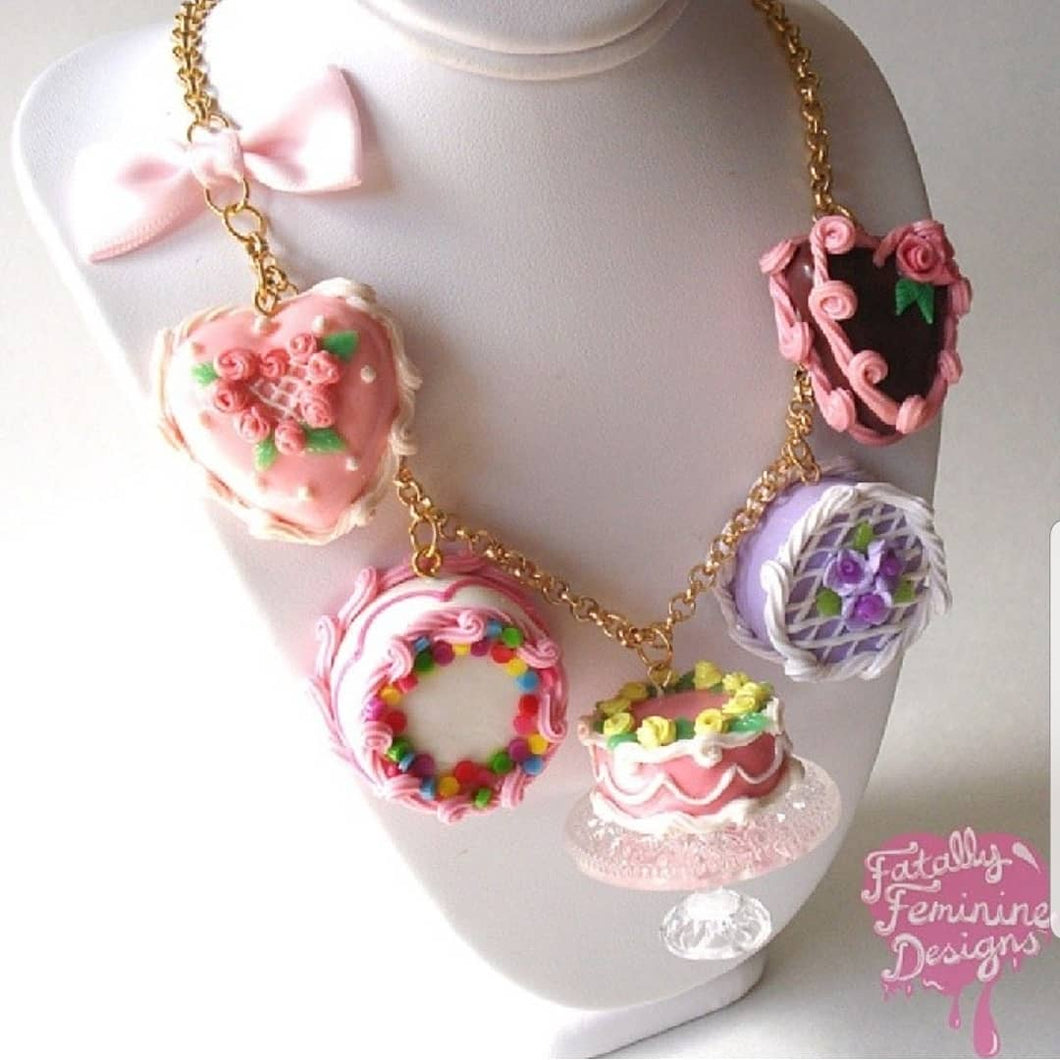 Marie Antoinette Cake Statement Necklace