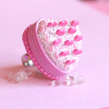 Load image into Gallery viewer, Pink Heart Cake Ring