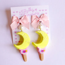 Load image into Gallery viewer, Moon Wand Ice Cream Bar Earrings