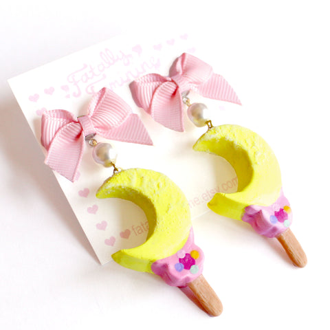 Moon Wand Ice Cream Bar Earrings