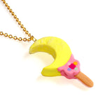 Moon Wand Ice Cream Bar Chain Necklace