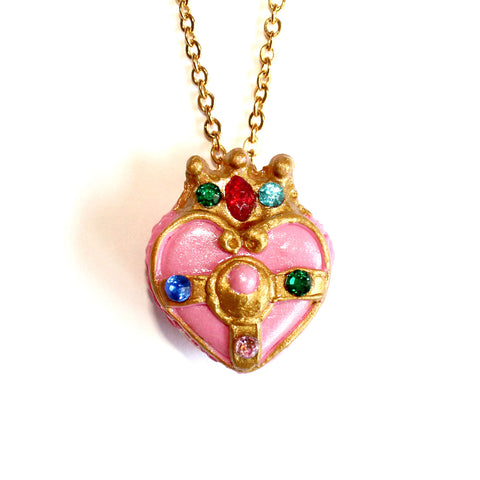 Cosmic Heart Compact Macaron Chain Necklace
