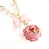 Crystal Star Compact Cake Pearl Necklace