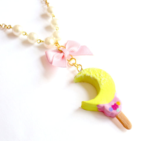 Moon Wand Ice Cream Bar Pearl Necklace