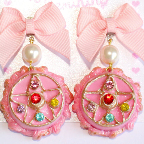 Crystal Star Compact Cake Earrings