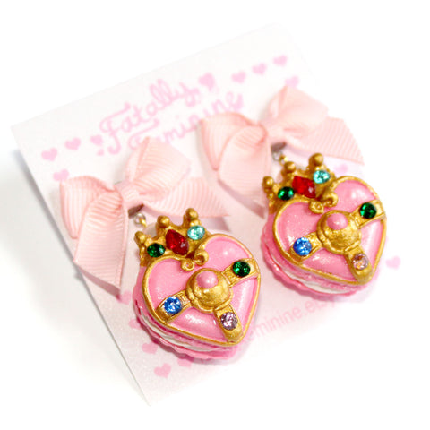 Cosmic Heart Compact Macaron Earrings