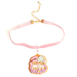 Kiki and Lala Decorated Cookie Velvet Choker