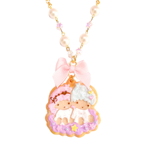Kiki & Lala Decorated Cookie Pearl & Bow Necklace