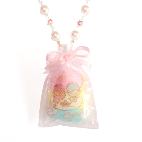 Little Twin Stars Cotton Candy Beaded Necklace