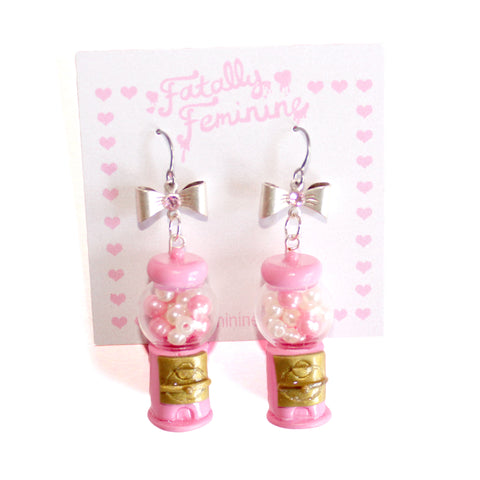 Pink Gumball Machine Earrings