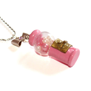 Pink Gumball Machine Necklace