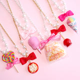 Carnival Treats Bow and Pearl Necklace
