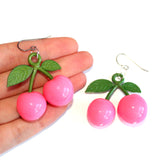Pink Cherry Earrings
