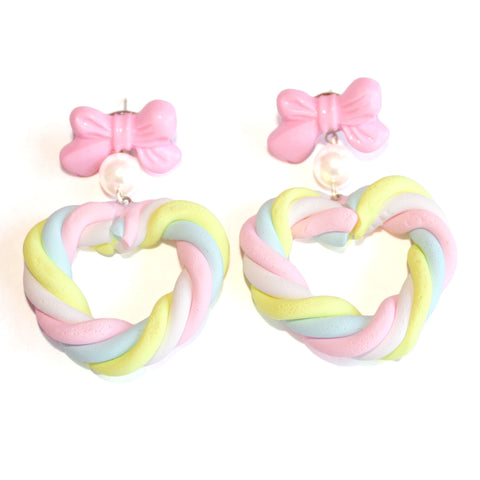 Marshmallow Heart Earrings