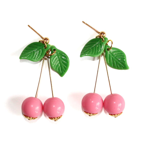 Dainty Cherry Earrings