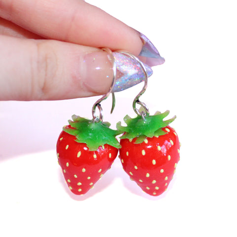 Juicy Strawberry Earrings