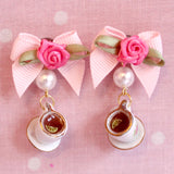 Marie Antoinette Tea Cup Earrings