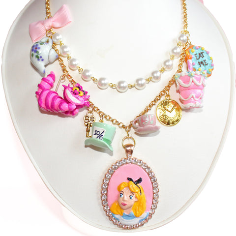 Mad Tea Party Statement Necklace - Alice in Wonderland