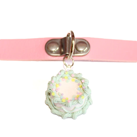 Pastel Mint Green Birthday Cake Choker